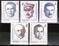 PL 1991 MI 3352-56 ** - Unused Stamps