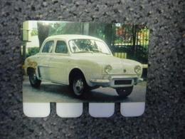 N° 34 - PLAQUE METAL En TOLE RENAULT DAUPHINE De 32 CV - AUTOMOBILE COOP Des Années 60 - Tin Signs (after1960)