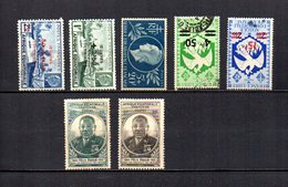 Africa Ecuatorial Francesa   1944-45  .-  Y&T  Nº    195/196-197-204/205-206/207 - Usados