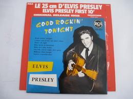 ELVIS PRESLEY : REEDITON  Vinyle 25 CM - GOOD ROCKIN' TONIGHT 1958 -  RCA 130. 252 (Avec Le Carton De Protection) - Collector's Editions
