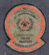 FONDS SOCIAL POLICE POMPIER SERVICE DE SECURITE 1995 - AUTOCOLLANT N°2345 - Stickers