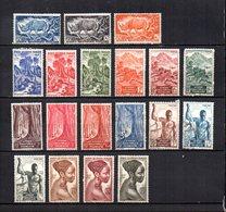 Africa Ecuatorial Francesa   1947  .-  Y&T  Nº    208/226 - Usados
