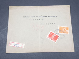 YOUGOSLAVIE - Enveloppe En Recommandé De Ljubuski Pour Sarajeva En 1948 , Affranchissement Plaisant - L 17336 - 1945-1992 Sozialistische Föderative Republik Jugoslawien