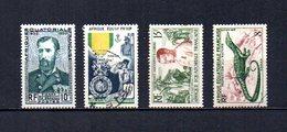 Africa Ecuatorial Francesa   1951-55  .-  Y&T  Nº    228-229-230-231 - Usados