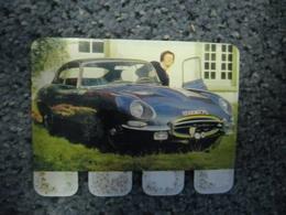 N° 27 - PLAQUE METAL En TOLE JAGUAR Type E De 265 CV - AUTOMOBILE COOP Des Années 60 - Tin Signs (after1960)