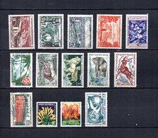 Africa Ecuatorial Francesa   1956-58  .-  Y&T  Nº    232/235-236-237-238/241-242-243/244-245 - Usados