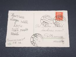 ESTONIE - Affranchissement De Puurmanni En 1932 Sur Carte Postale - L 17339 - Estonie