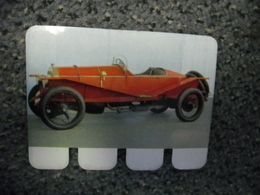N° 23 - PLAQUE METAL En TOLE SPA COURSE 4 Cylindres De 50 CV De 1912 - AUTOMOBILE COOP Des Années 60 - Plaques En Tôle (après 1960)
