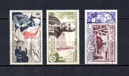 Africa Ecuatorial Francesa   1951-54  .-  Y&T  Nº    55-56-57     Aéreos - A.E.F. (1936-1958)