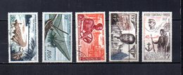 Africa Ecuatorial Francesa   1955-57  .-  Y&T  Nº    58/60-61-62     Aéreos - Usados