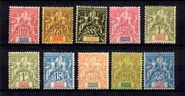 Grande Comore Dix Timbres Type Groupe Neufs * 1897/1907. Bonnes Valeurs. B/TB. A Saisir! - Great Comoro Island (1897-1912)