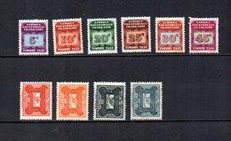 Africa Ecuatorial Francesa   1937-47  .-  Y&T  Nº    1/6-12/14-21   Taxa - A.E.F. (1936-1958)