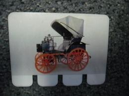 N° 19 - PLAQUE METAL En PANHARD 2 Cylindres Moteur Daimler De 1892 - AUTOMOBILE COOP Des Années 60 - Plaques Publicitaires