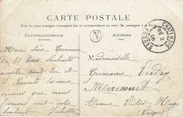 CACHET FACTEUR Rond N - N°129 Châtenois 2 ? 1906 (centre évidé) Pour Mirecourt - CP Nancy Place D'Alliance - Marcophilie (Lettres)