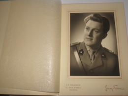 Photo D Un Sous Lieutenant Officier Militaire Armée Belge.Photographie J.P.Delvigne à Tournai. - Guerre, Militaire