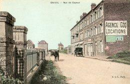 Carte Postale Ancienne .ONIVAL: Rue De Cayeux - Onival