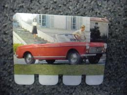 N° 11 - PLAQUE METAL En TOLE - PEUGEOT 404 Cabriolet De 85 CV - AUTOMOBILE COOP Des Années 60 - Plaques Publicitaires