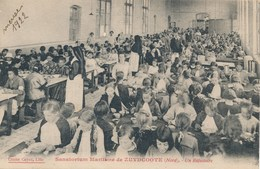 59) ZUYDCOOTE - Sanatorium Maritime : Le Réfectoire (1922) Cliché Cayez - France