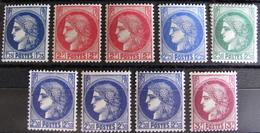 DF/987 - 1938 - CERES N°372 à 376 NEUFS** - Cote : 31,10 € - Frankreich