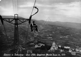 Cartolina Lizzano In Belvedere Seggiovia Monte Pizzo Animata 1953 - Bologna