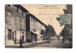 La Drôme Pittoresque. Saint Just De Clait. Avenue De St Romans. Café Restaurant. (2883) - France