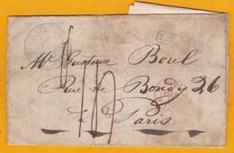 1840 - Lettre Avec Correspondance De 3 Pages De Neuchatel, Suisse  Vers Paris, France Via Pontarlier - Marcophilie (Lettres)