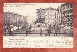 Stettin, Menzelbrunnen, EF Germania, Nach Hannover 1902 (51833) - Pommern