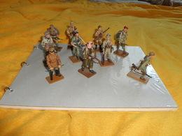 LOT DE 10 FIGURINES MILITAIRES DEL PRADO EN PLOMB. / INF. CORPORAL ABYSSINIA ITALY, FEMME SNIPER USSR, INFANTRYMAN ISRAE - Army