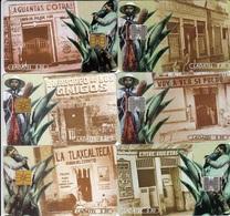 Mexico Phonecard LADATEL TELMEX  PULQUERIAS  Set Of 6 Cards No Credit Used - Mexico