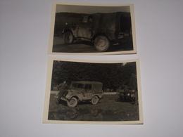.Elsenborn En 1959.Lot De 3 Photos Militaire Avec Camion Et Canon. - Guerre, Militaire
