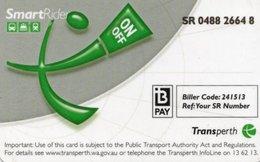 CARTE TRANSPORT METRO TRANSPerth  PERTH Australie - Billetes De Transporte