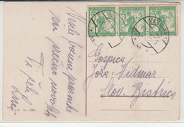 SHS, Verigari Chainbreakers Stamps On Happy Christmas Old Postcard Travelled 1919 Maribor Pmk B180520 - Slovenia