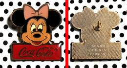 Pin's Disney Tête Minnie Publicitaire Coca-Cola Copyright Disney Au Verso - Disney