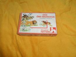 JEUX DE SOCIETE ANCIEN. / DOMINO PUZZLE CRIS DES ANIMAUX DECOUVERTE NATHAN. ANNEE 1979. COMPLET. - Puzzle Games