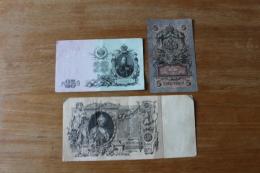 Lot De 3 Billets Anciens Russie Imperiale - Russie