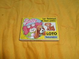 JEUX DE SOCIETE ANCIEN. / LOTO VOLUMETRIX POOCHIE LES ANIMAUX ET LEURS PETITS. MATTEL INC 1985. COMPLET. - Group Games, Parlour Games