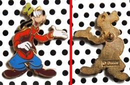 Pin's Disney émaillé Doré Dingo Goofy - Disney