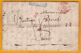 1841 - Lettre Avec Correspondance De 3 Pages De Neuchatel, Suisse  Vers Paris, France Par Pontarlier - Marcophilie (Lettres)