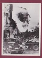 240518 - 1939 PHOTO DE PRESSE GUERRE RUSSO FINLANDAISE Maison Incendiée à Helsinki Suite à Bombardement - Auto Camion - Other Wars