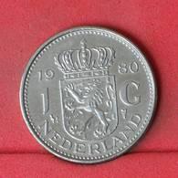 NETHERLANDS 1 GULDEN 1980 -    KM# 184a - (Nº22984) - [ 3] 1815-… : Kingdom Of The Netherlands