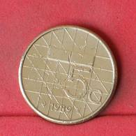 NETHERLANDS 5 GULDEN 1989 -    KM# 210 - (Nº22988) - [ 3] 1815-… : Kingdom Of The Netherlands