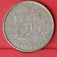 NETHERLANDS 2,5 GULDEN 1984 -    KM# 206 - (Nº22989) - [ 3] 1815-… : Kingdom Of The Netherlands