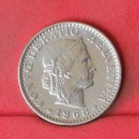 SWITZERLAND 20 RAPEN 1968 -    KM# 29a - (Nº22990) - Switzerland