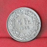 SWITZERLAND 1/2 FRANC 1956 - 2.5 GRS - 0.835 SILVER -    KM# 23 - (Nº22991) - Switzerland