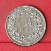 SWITZERLAND 1 FRANC 1981 -    KM# 24a,1 - (Nº22993) - Switzerland