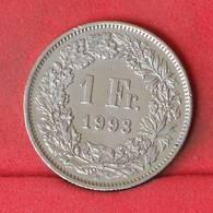 SWITZERLAND 1 FRANC 1993 -    KM# 24a,3 - (Nº22994) - Switzerland