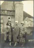 Grande Photo. Château De Grupel, Fêtes Nationales 1927. Mode. Femmes Et Chapeaux. - Lieux
