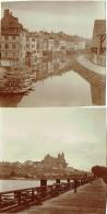 Foto/ Photo. Strasbourg 1910. Château ? Et Vue Du Vieux Strasbourg. Lot De 2 Photos. - Lieux