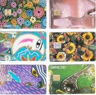 Mexico Phonecard LADATEL TELMEX  MEXICAN RICHES Set Of 6 Cards No Credit Used - Mexico