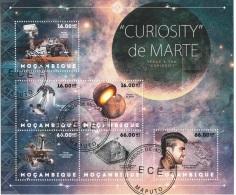 6265 Mozambico 2012 Mars Research Curiosity Marte Rover CTO Mocambique - FDC & Conmemorativos